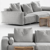 Flexform Lario 88 sofa and Flexform Tindari table