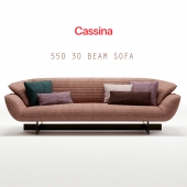 Cassina 550 30 BEAM sofa (max 2011 Vray