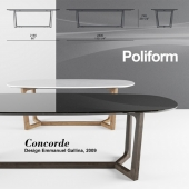 Table Concorde by Poliform