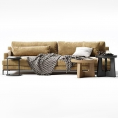 BELPORT sofa with table and decor