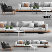Tribu Vis a Vis Sofa and Mood Club Chair
