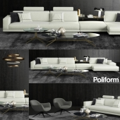 Mondrian sofa and table Poliform