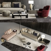 Grand Jacques sofa set by Minotti
