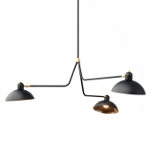 Suspension Waldorf Triple Lights by Lambert et Fils