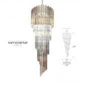 Pendant lamp SPIRALE Triedres by Veronese