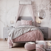 Restoration Hardware Baby & Child Bed MARCELLE UPHOLSTERED