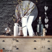 Decor set with hearts