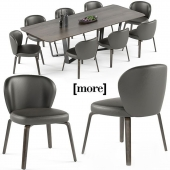 Mudi chair and Pero table set