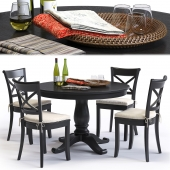 C&B Vintner Chair and Avalon Table by Сrate&Barrel