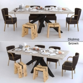 Dialma Brown furniture set