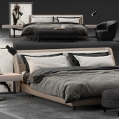 Minotti Spencer modern bed