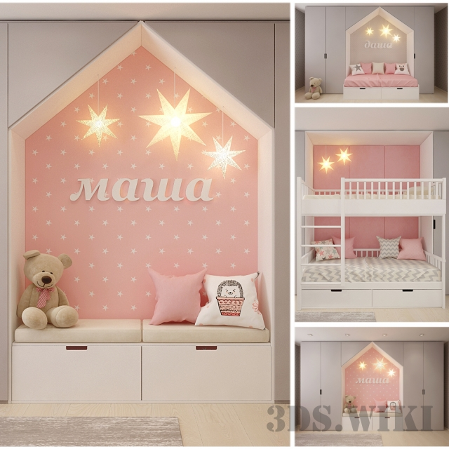 Cribs and wardrobes for children