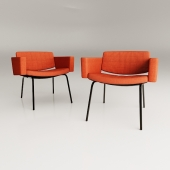 Council armchairs by Pierre Guariche - 1960s