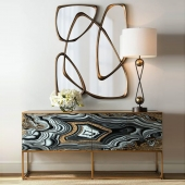 Nicola Painted-Agate Console with mirror 3d model