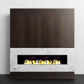 Wood & Marble fireplace
