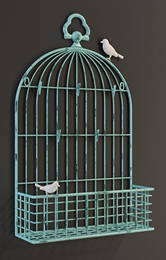 GRAMERCY HOME - metal birdcage card 1 0248