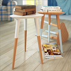 backless stool  and  book