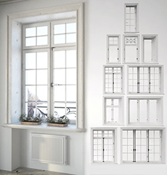 Set classical windows with decor 5