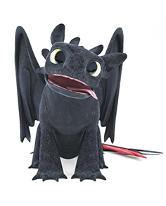 Soft toy Toothless
