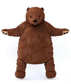 Soft toy, brown bear Dungel
