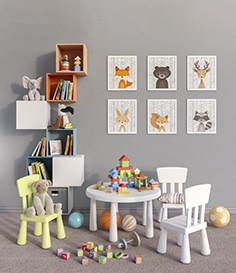 IKEA furniture, accessories, decor and toys set 4