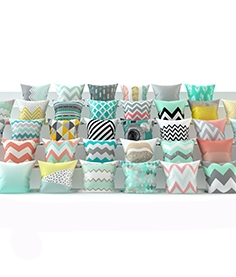 Set of 38 pieces of pillows