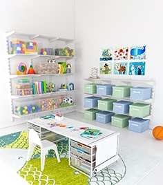 Storage system for the children's room Elfa