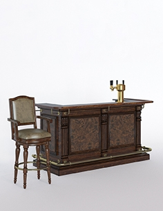 Bar counter and stool