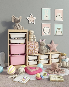 IKEA storage furniture, toys and decor for a children