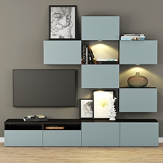 Cabinet for TV and multimedia Ikea  Besta