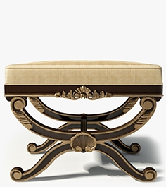 Century furniture Bench 3919B French footstool