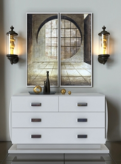 Chest of drawers and lamp Smania