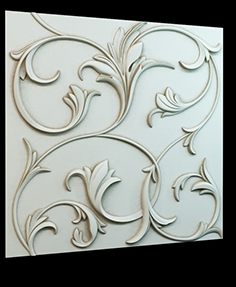 Decorative 3D panel P-4