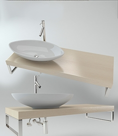 Washbasin on the wooden plate 3