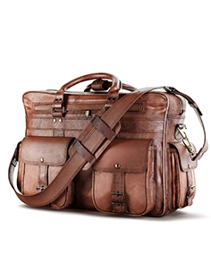Everett Large Leather Pilot Briefcase bag