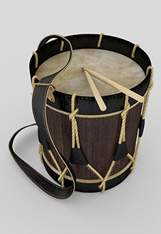 Ancient hussar drum