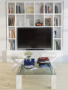 Built-in wall TV