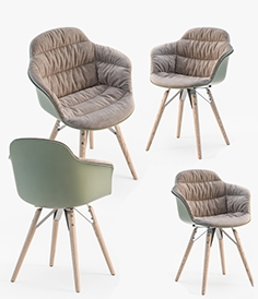 Bontempi Mood covered armchair