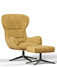 BoConcept Reno armchair with poof