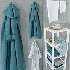 Blumarine Home collection of towels and bathrobes