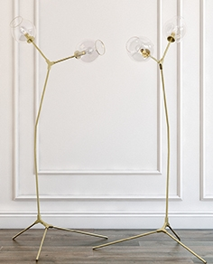 Floor lamp branching bubbles