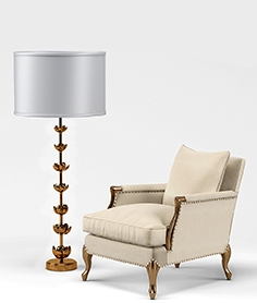 Bernice Chair, Amalie Regency Lamp