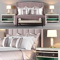 Bed from Ferris Rafauli