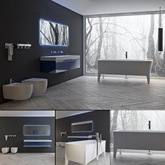 Bathroom furniture set Lunaria