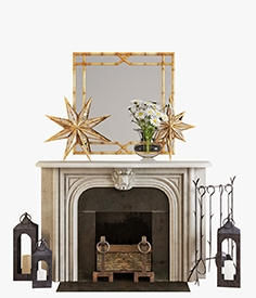 Fireplace set 002