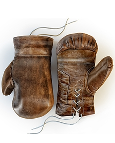 Restoration Hardware, Vintage Leather Boxing Gloves