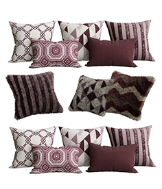 Purple collection of decorative pillows