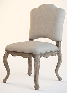 Dining chair Devonshire With Lion Off White Linen by Eichholtz