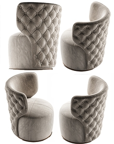 Buttoned Swivel chair
