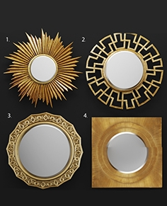 Mirror set by Bassett and House of Hampton